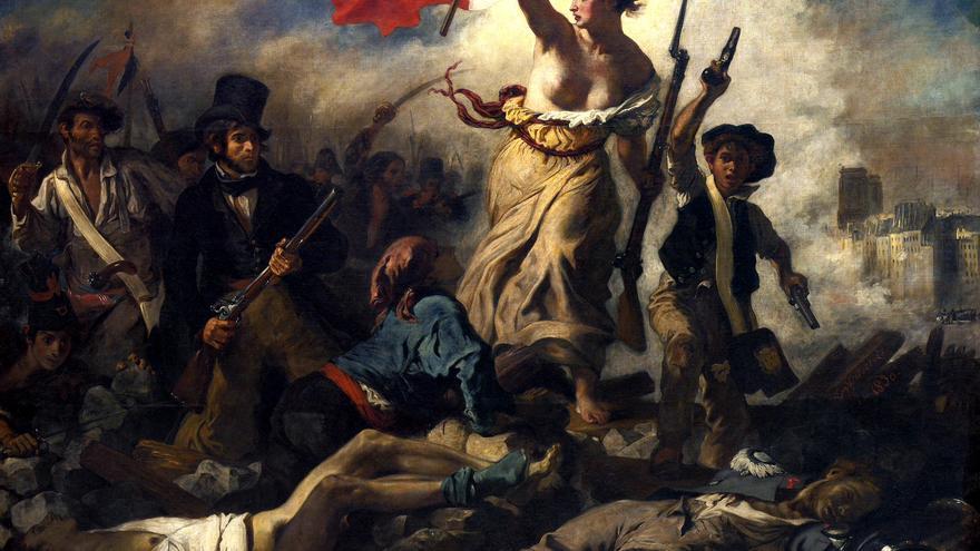 'La libertad guiando al pueblo', pintado por Eugène Delacroix en 1830.