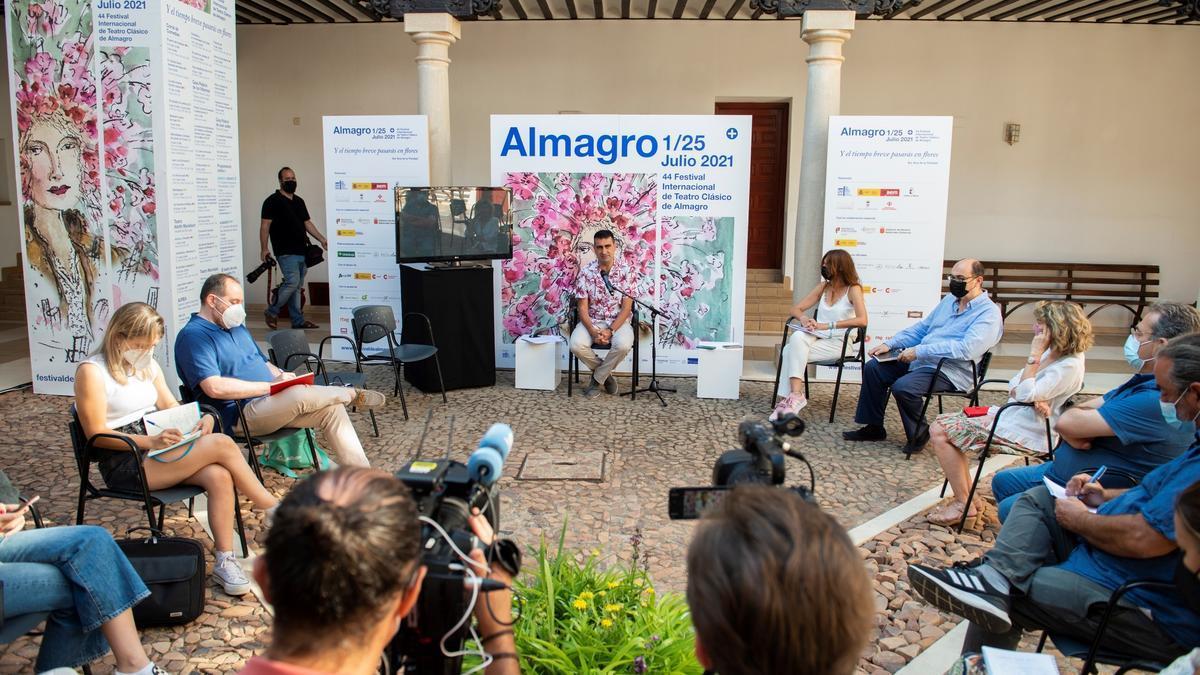 El director del Festival, Ignacio García, hace balance de la 44 edición del Festival Internacional de Teatro Clásico de Almagro. EFE/Jesús Monroy