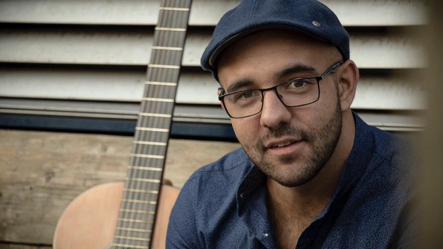 El guitarrista palmero Pedro Díaz reside en Holanda desde hace diez años.
