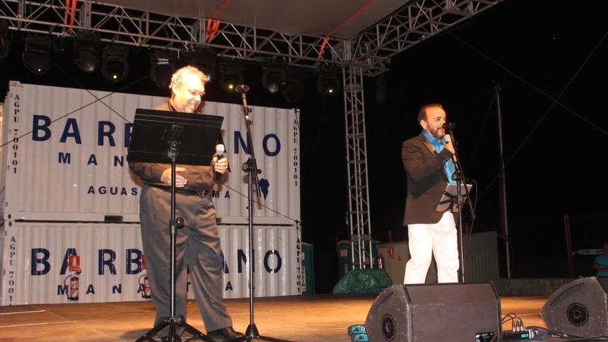 Arturo Castillo y Pepe Benavente, en plena actuación en el 'Gran asalto prolongado'.