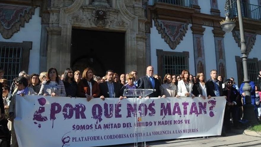 La Diputación, la Junta y alcaldes de Baena, Lucena y Córdoba muestran su rechazo a la violencia de género