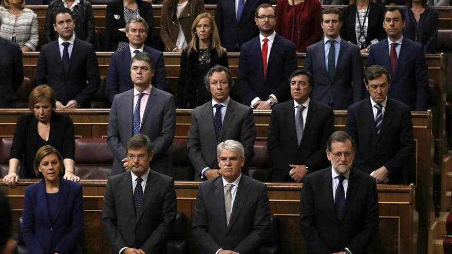 El Congreso guarda un minuto de silencio por Barberá del que se ausenta Podemos
