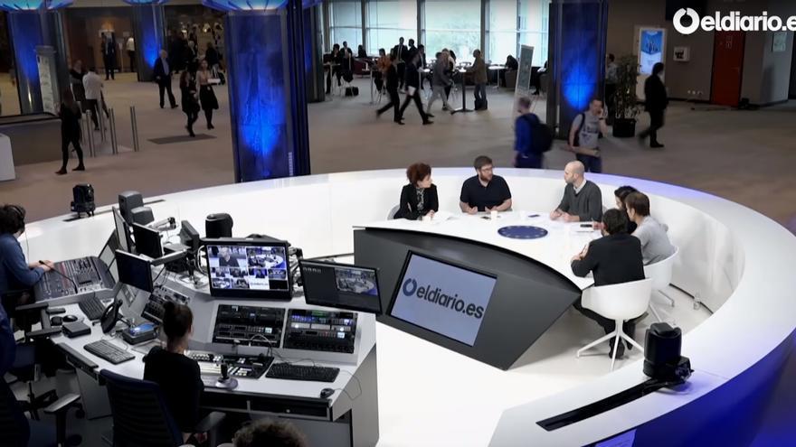 Momento del debate en el Parlamento Europeo.
