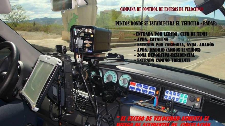 Aviso en Facebook de la Policía Local de Fraga