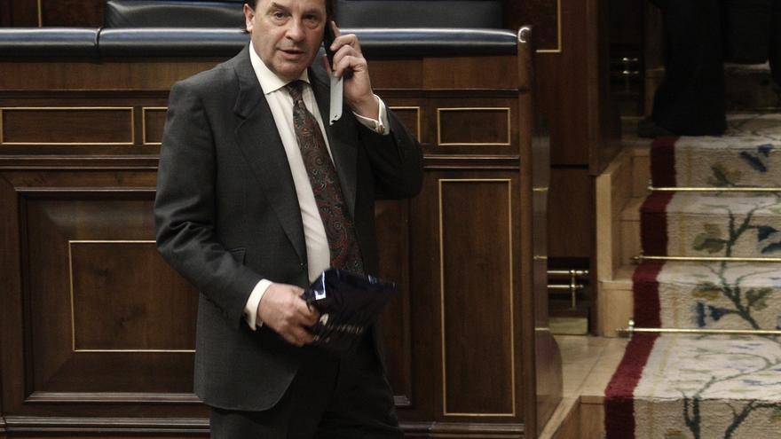 Martínez Pujalte en el hemiciclo del Congreso de los Diputados.
