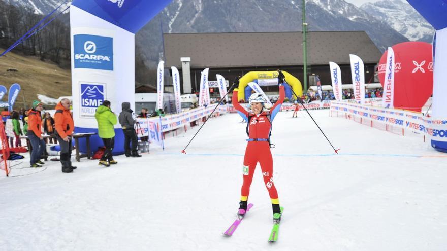 Claudia Galicia en la Valtellina Orobie (© ISMF).