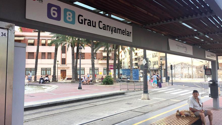 La parada de Grau-Canyamelar del tranvía