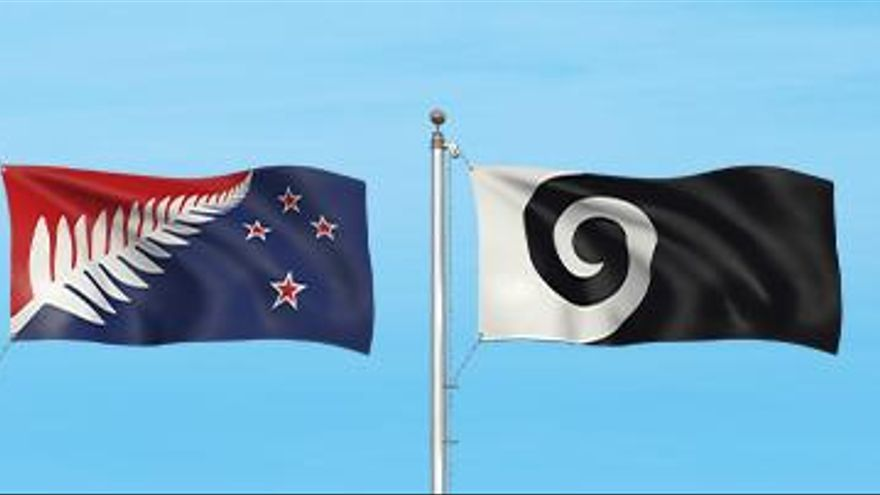 Las cuatro alternativas de banderas de Nueva Zelanda de las que saldrá la finalista.