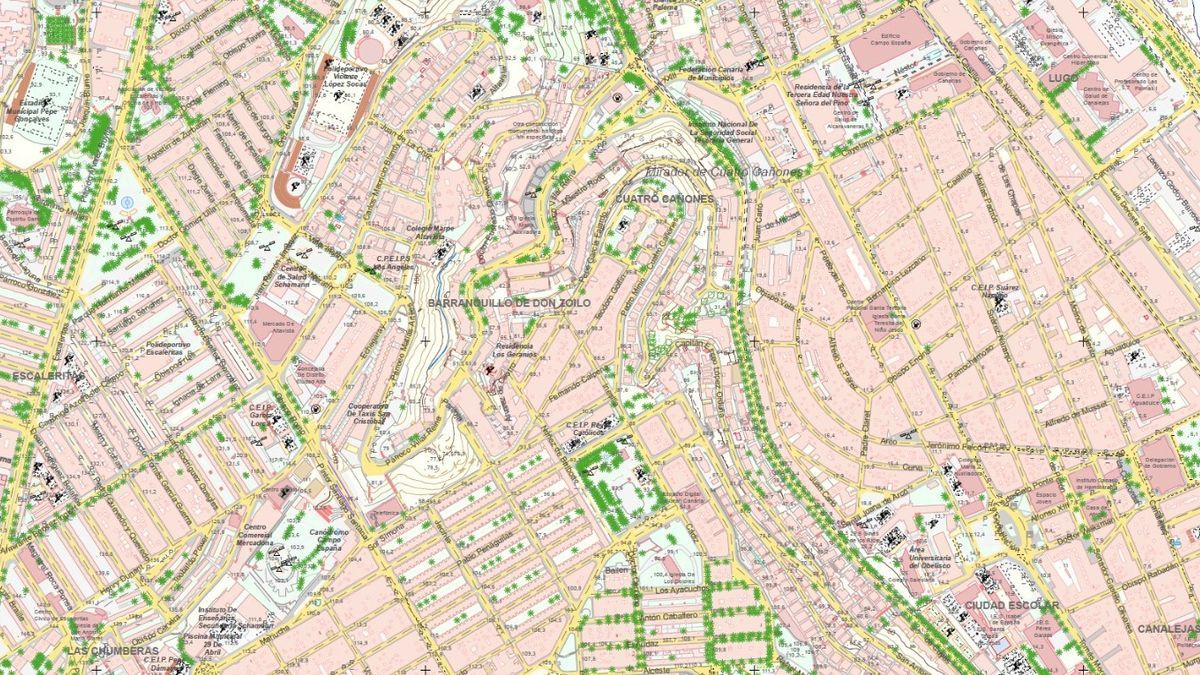 Mapa cartográfico de Gran Canaria