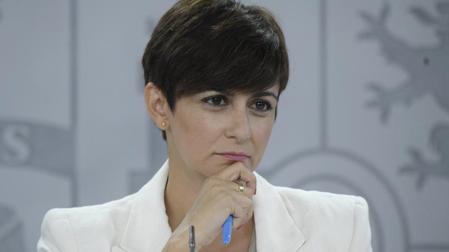 La ministra Portavoz y ministra de Política Territorial, Isabel Rodríguez, comparece tras la celebración del Consejo de Ministros, a 20 de julio de 2021, en Madrid (España).