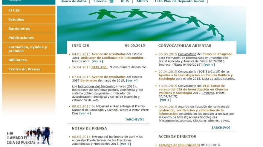 El CIS publica hoy su macroencuesta de las autonómicas y el barómetro de las generales