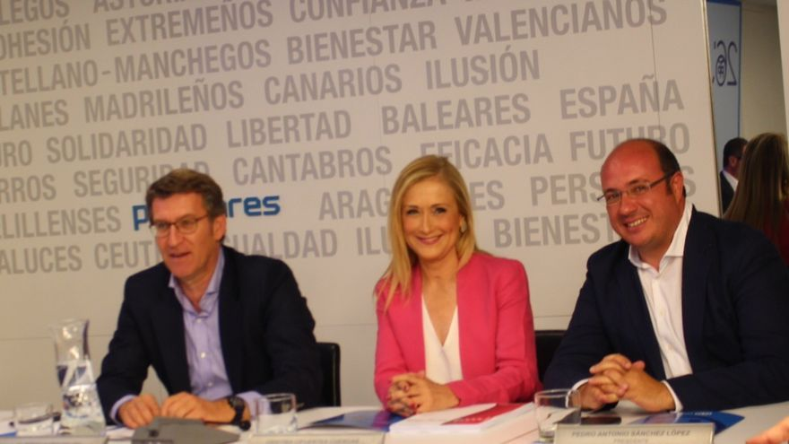 Pedro Antonio Sánchez tras la reunión con el Comité Ejecutivo Nacional