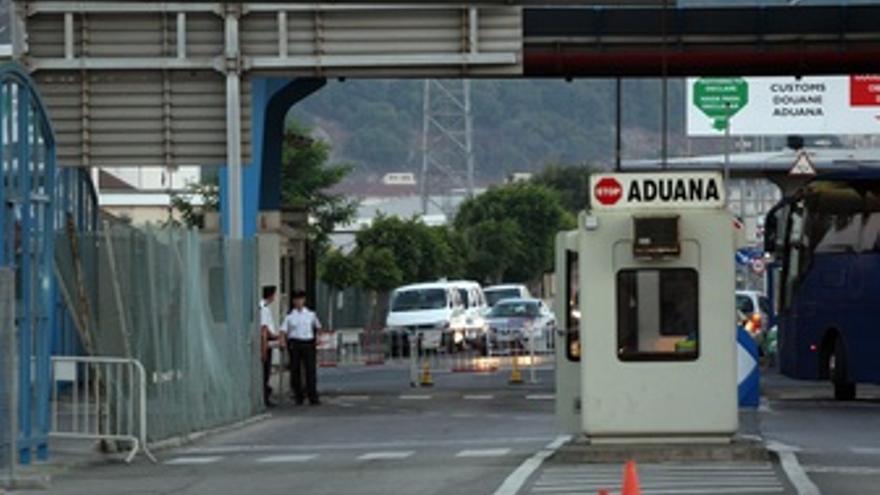 Imagen de la frontera de Gibraltar