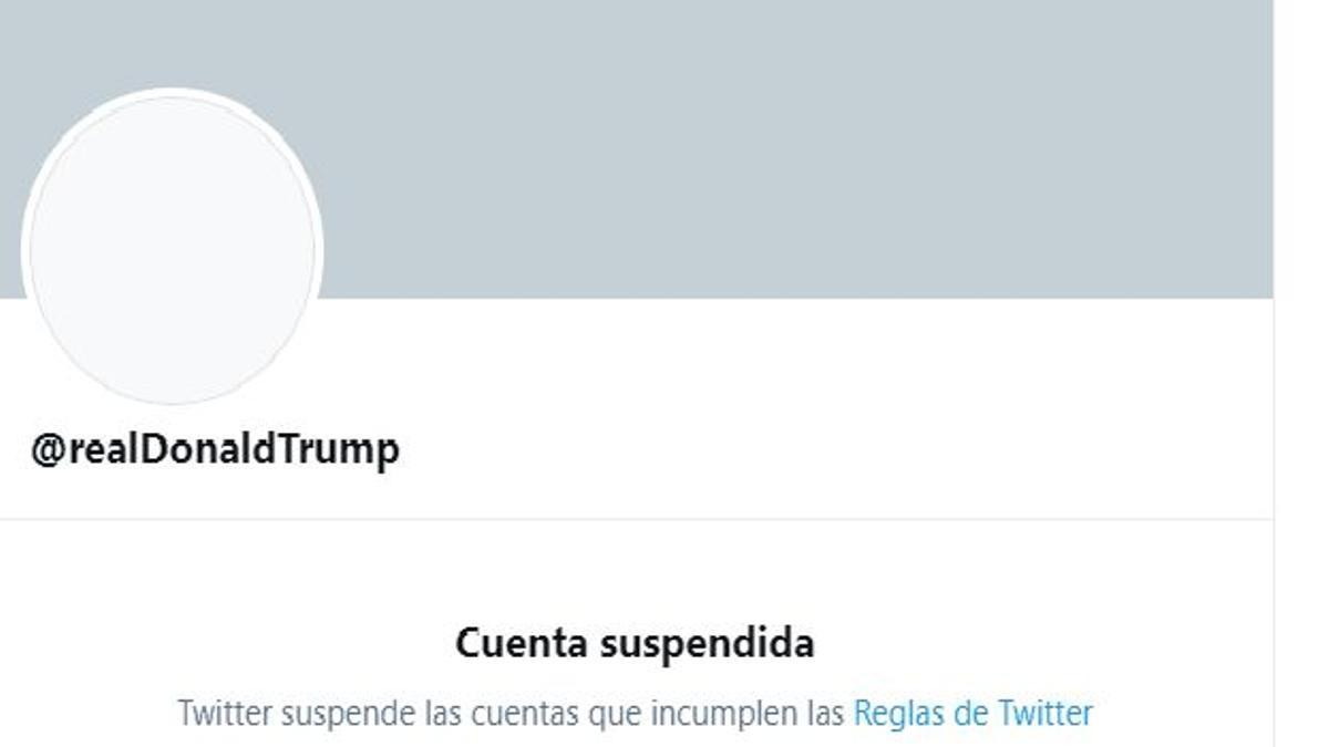 La cuenta de Twitter de Donald Trump
