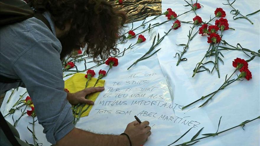 Docentes recuerdan al profesor Abel Martínez un mes después de su asesinato