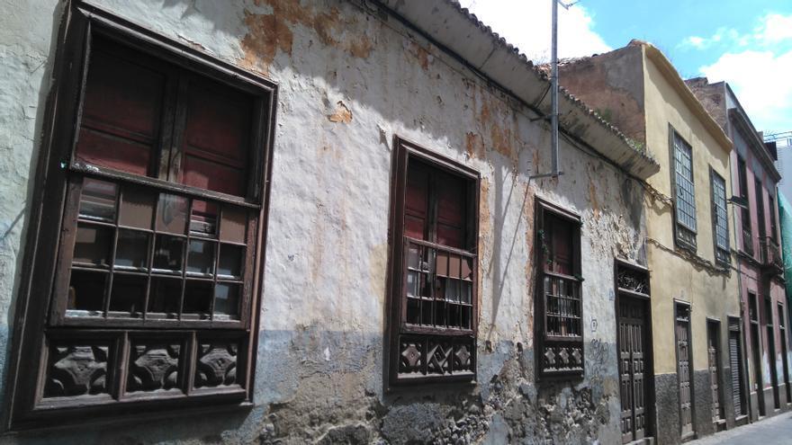 Casas terreras que pueden ser demolidas si se aplica lo recogido en el borrador del plan especial del Antiguo Santa Cruz