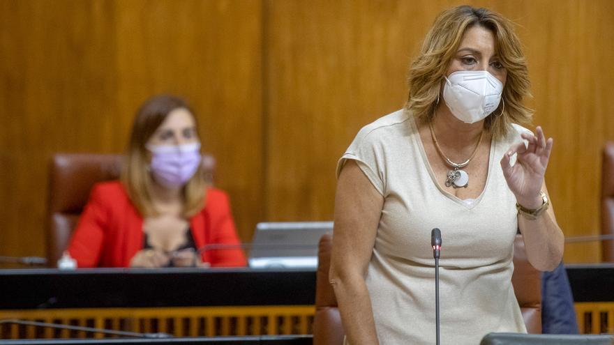 Archivo - La secretaria general del PSOE,A, Susana Díaz, en una imagen de archivo en el Parlamento.