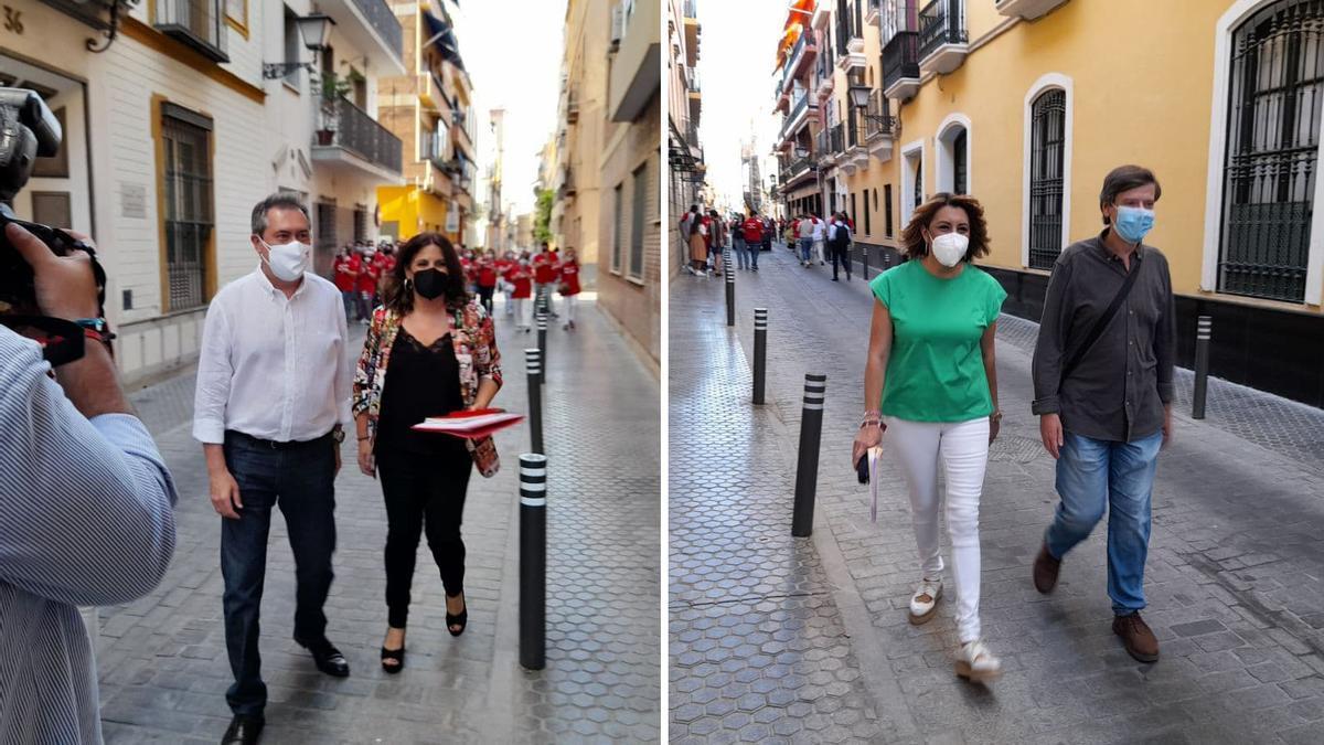 Espadas y Díaz, a su llegada al debate