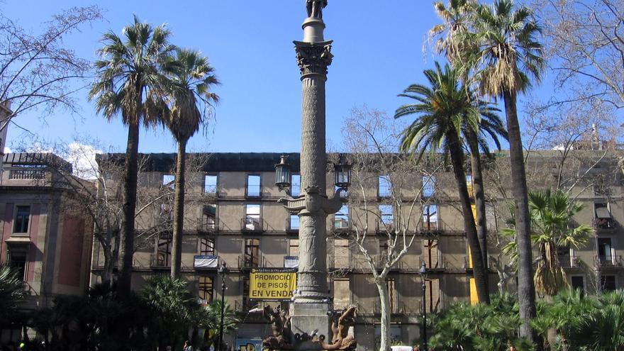 Monument a Galceran Marquet a la plaça Duc de Medinacelli / CC by-sa Canaan (Wikimedia Commons)