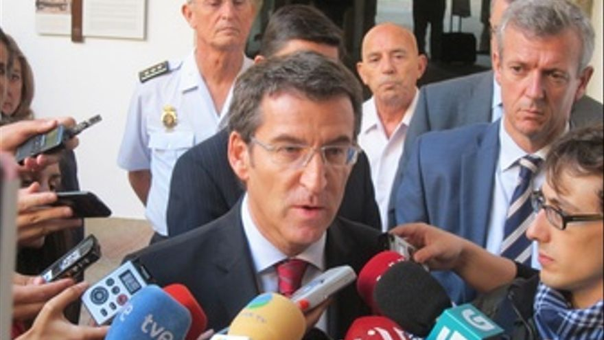El Presidente Alberto Núñez Feijóo En Declaraciones A Los Medios