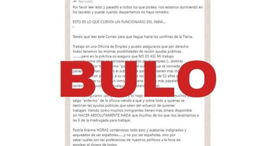 Cadena de Whatsapp desmentida por Maldita.es