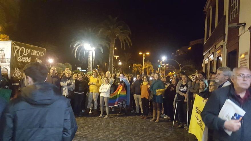 Manifestación en Santa Cruz de La Palma.