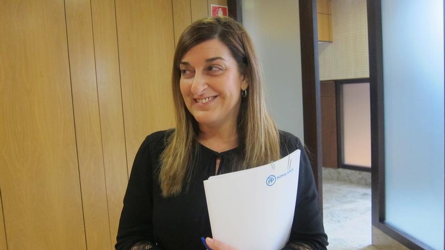 """Buruaga asegura que el PP será """"mucho más dialogante"""" con ella de presidenta"""