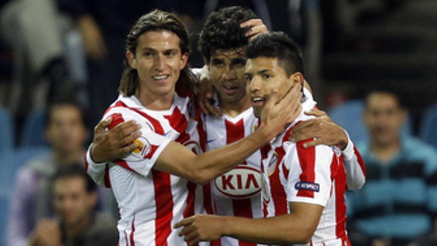 Agüero dibuja otro Atlético.