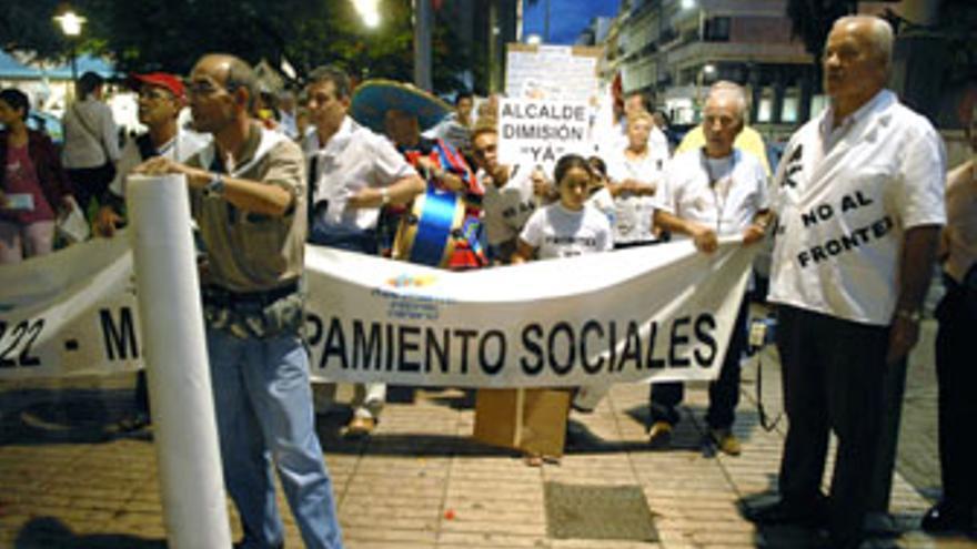 Ua de las imágenes de la manifestación de este viernes. (ACFI PRESS)