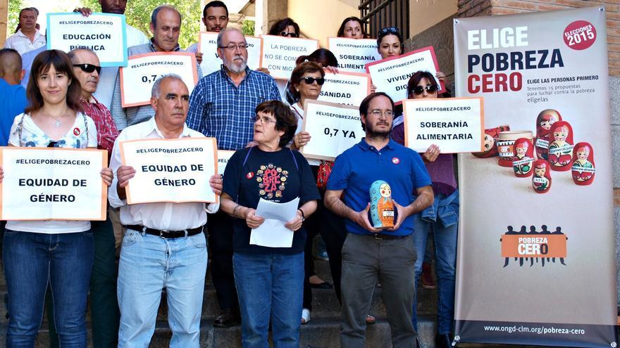 Miembros de la Alianza contra la Pobreza de Castilla-La Mancha