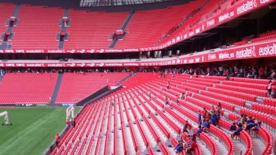 Interior del estadio del nuevo San Mamés.