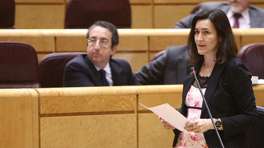 La ministra de Cultura, Ángeles González-Sinde en el Senado