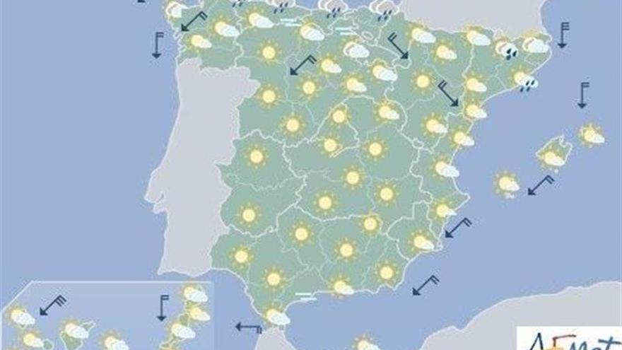 Las temperaturas volverán a ser hoy muy altas en la mitad sur