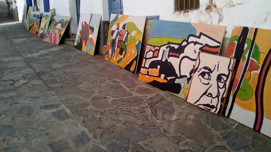 Obras en las calles de Ubrique.