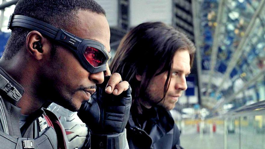 Los protagonistas de la serie 'The Falcon and the Winter Soldier'