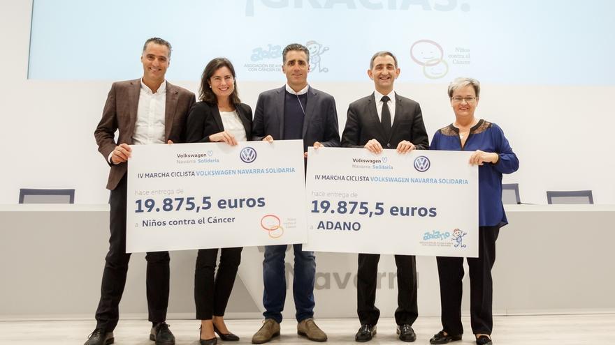 Volkswagen Navarra Solidaria entrega 39.751 euros a Adano y Niños Contra el Cáncer de la CUN