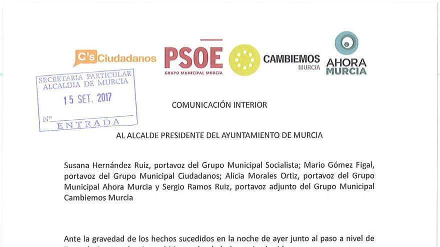 Comunicado oposición Ayto Murcia protestas vecinales