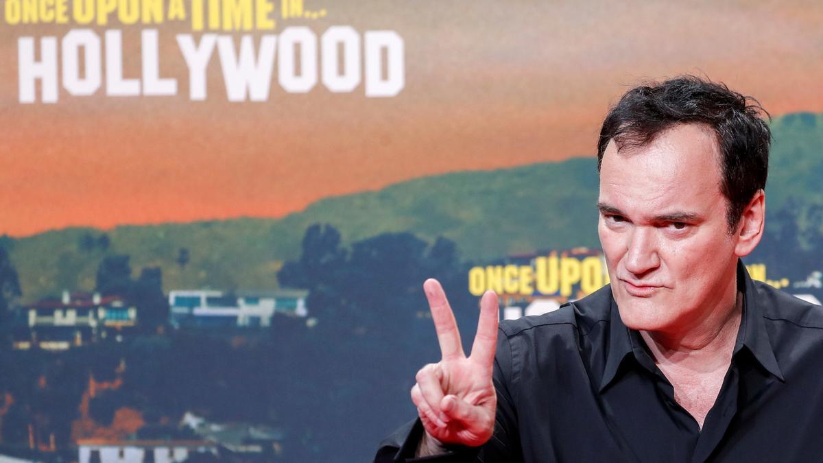 Tarantino en la premiere de su película en Berlín, en agosto de 2019.
