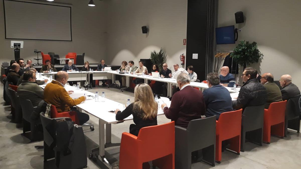 Reunión del pleno de la Cámara de Comercio de Badajoz. Imagen de archivo