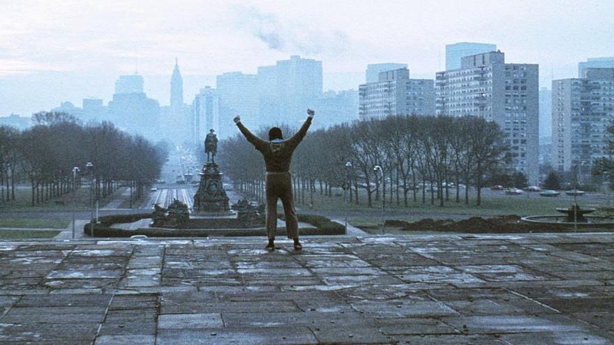 El triunfo de Rocky tras subir las escaleras