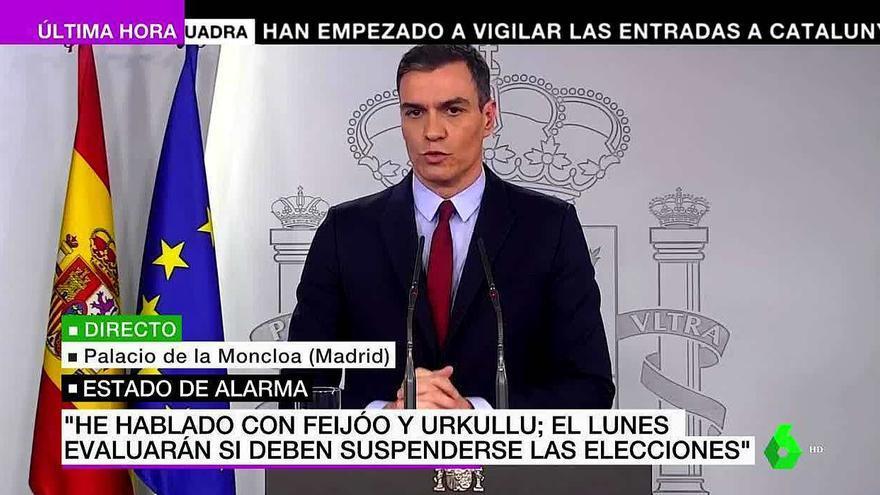 La comparecencia de Pedro Sánchez congrega a 18 millones en TV, con laSexta como cadena preferida (19.1%)