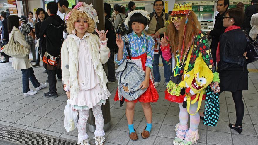 Seguidoras del movimiento Cosplay en la estación de Harajuku. istolethetv