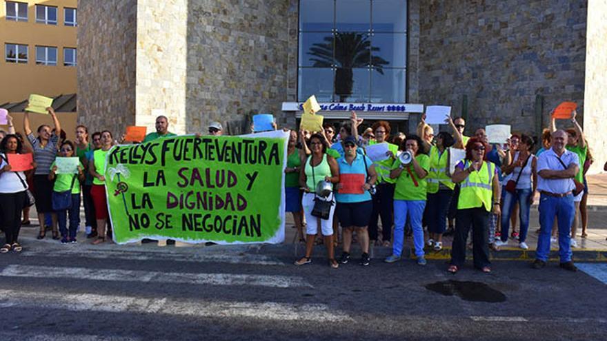 Protesta de las Kellys de Fuerteventura.
