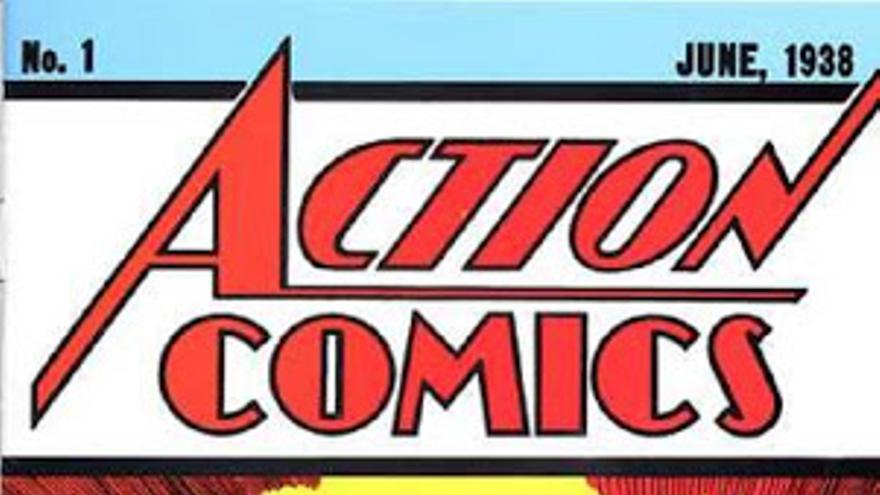 Portada del primer número de 'Action Comics'