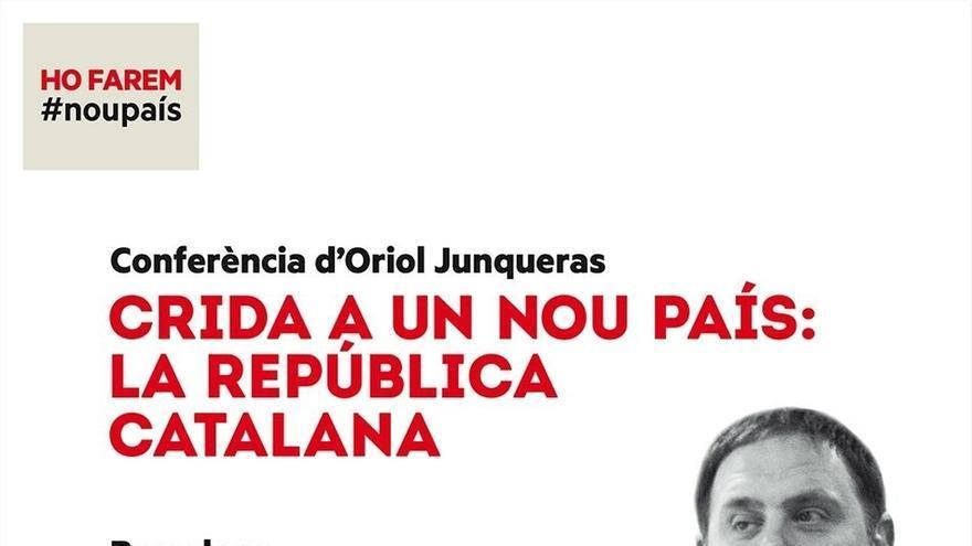 Junqueras dará una conferencia en el Palau de Congressos de Catalunya el 2 de diciembre