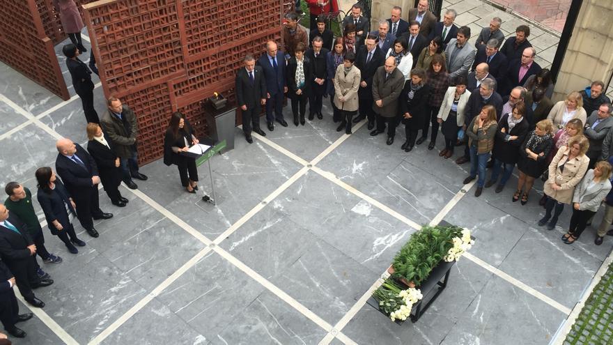 Día de la Memoria en el Parlamento vasco.