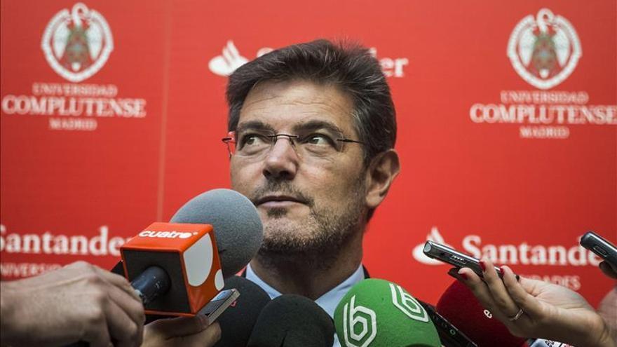 Catalá advierte que el Estado puede adoptar declaraciones de interés general