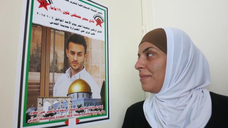 Haya Alloun, tía de Fadi Alloun, muerto a tiros por las fuerzas israelíes / Ana Garralda