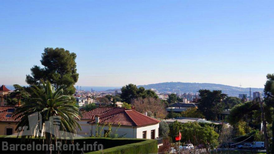 Vistas desde el 'Palacete de Pedralbes' / barcelonarent.info