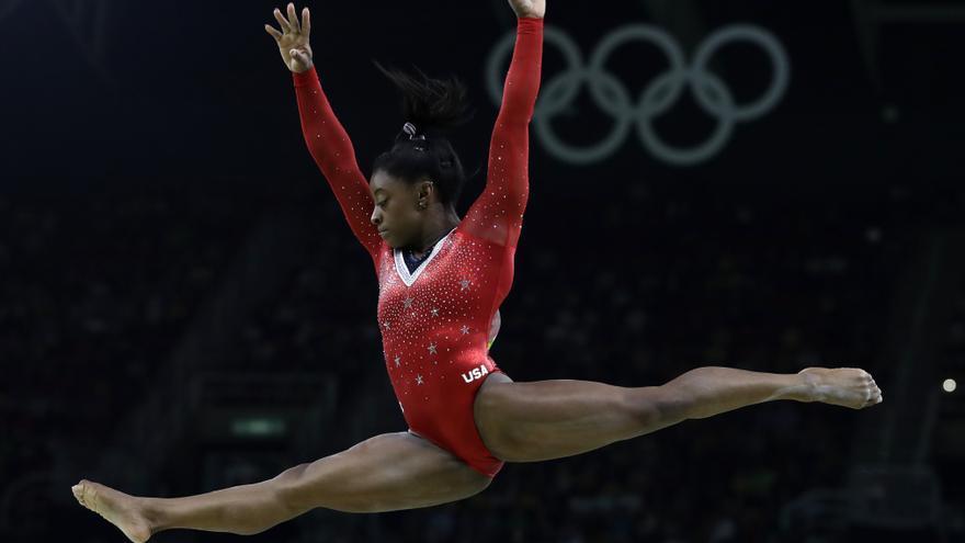 Simone Biles durante los Juegos Olímpicos de Río de Janeiro 2016